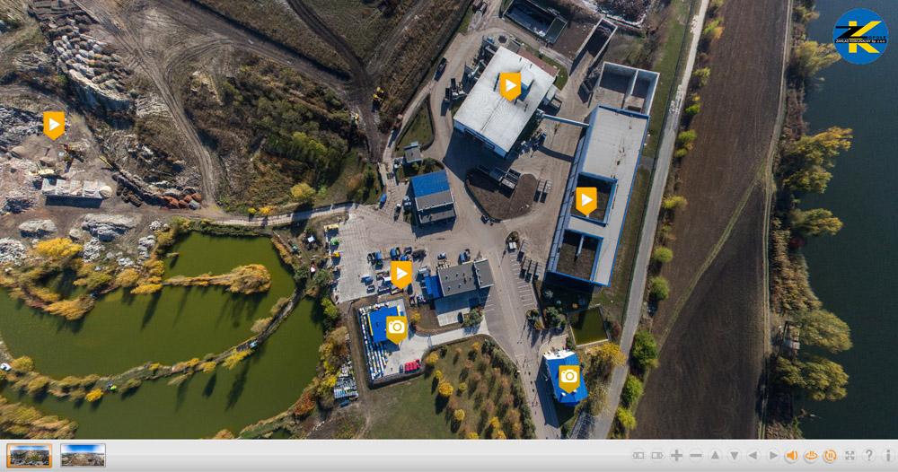 panorama z drona, 360 z drona, zdjęcia z drona