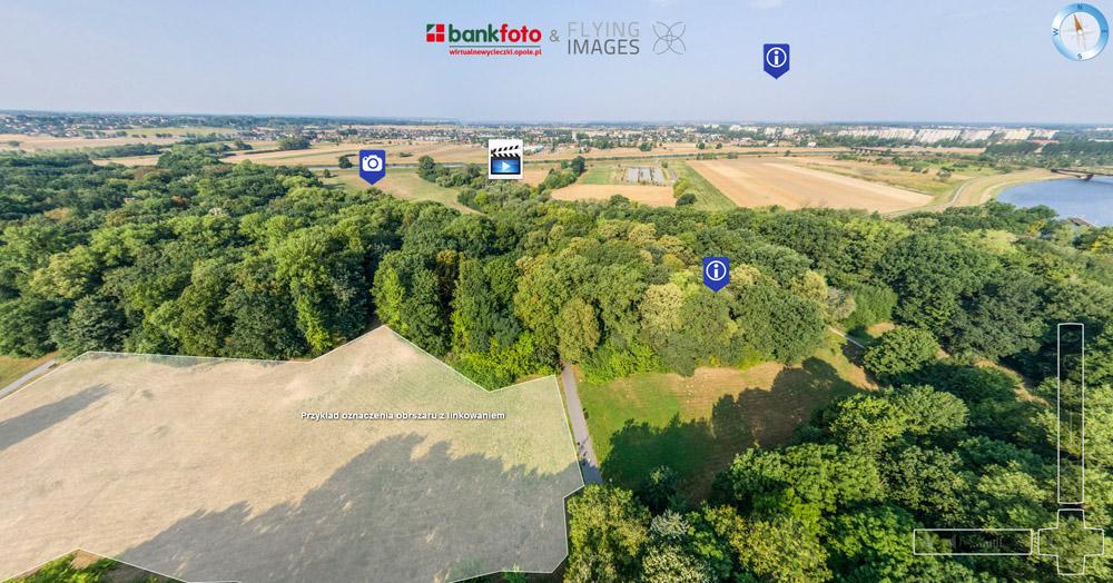 zdjęcia z drona, panorama z drona
